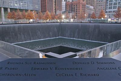 9-11 memorial in NYC