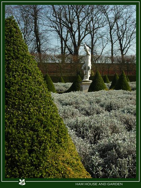 The lavender garden and original statue