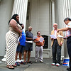 Members of the Virginia Interfaith Center have been meeting on Mondays on the steps of St. Paul's Episcopal Church, 815 E. Grace Street, Richmond, Virginia.