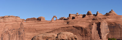 Panoramic view of Delicate Arch, Arches National Park. Utah.