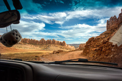 Off Road trail to Chicken Corners, Moab. Utah.