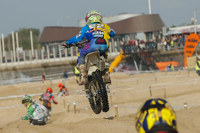 Kay Karssemakers is strong in only his 2nd big race on the 85cc