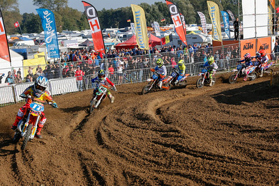 Everts takes the holeshot again in the 3rd moto