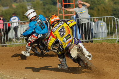 Vanhaeren with Ryan Bonnewijn from the Wallonian team