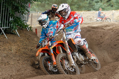 Nick Geukens is 2nd on the Nationalen MX2 podium