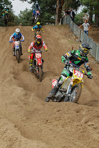 Greg Smets leads before Mathias Buytaert, Jochem Walckiers and René Rannikko