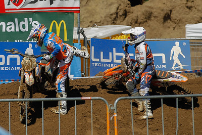 Jeroen Bussink and Twan van Essen crashed together