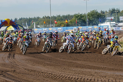 Kay Karssemakers took the holeshot in his first ONK race
