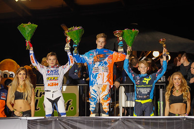 Podium 85cc Big Wheels: 1.Bussink 2.Dankers 3.van Drunen