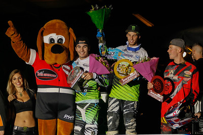 Podium with Desprey, Lebeau and Matt Bayliss