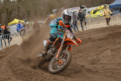 Van Clapdorp wins both heats and the overall in the MX2 Class