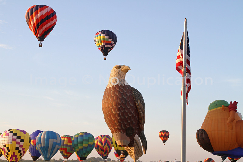 The Eagle shaped balloon was a new addition at the 2011 National Balloon Classic