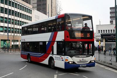 4697-YN55 PXB in Birmingham City Centre