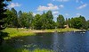 The beach at Mondeaux Dam in the Chequamegon.