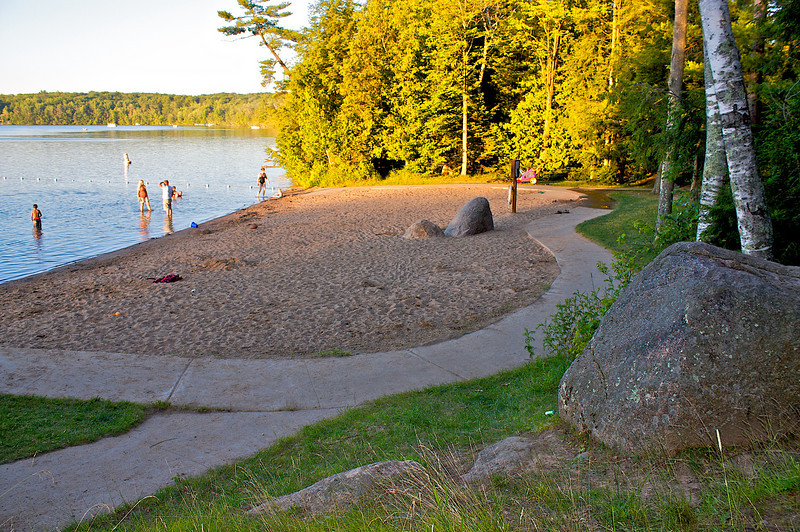 The beach at Boulder Lake.