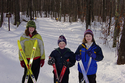 Skiing the Mukwonago Trail