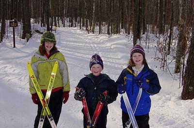 Skiing the Mukwonago Trail