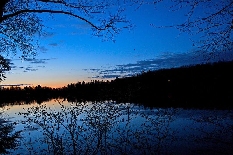 Sunset Mondeau Flowage Chequamegon-Nicolet National Forest.