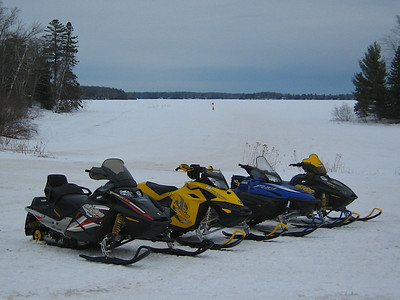 Sleds ready to go. Namekagon Lake