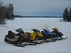 Sleds ready to go. Namekagon Lake