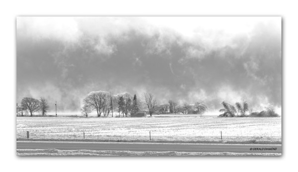 Winter - Ontario Farm #2  ©Gerald Diamond All Rights Reserved