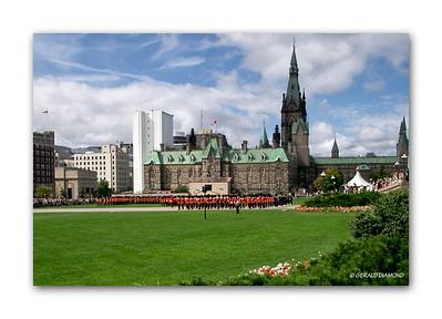 Parliament Hill, Ottawa, Canada - Changing Of The Guard, 2007  ©Gerald Diamond All rights reserved
