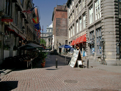 The 300+ year old waterfront area of Old Montreal has a charm that is partly Old World Gaullic and partly reflects events that are strictly New World.  Montreal, like most old North America cities of the Eastern seabord, has an involved and exciting past.   ©Gerald Diamond All rights reserved
