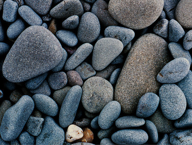 Stones on the beach - Vancouver Island, Canada 1969  ©Gerald Diamond All rights reserved