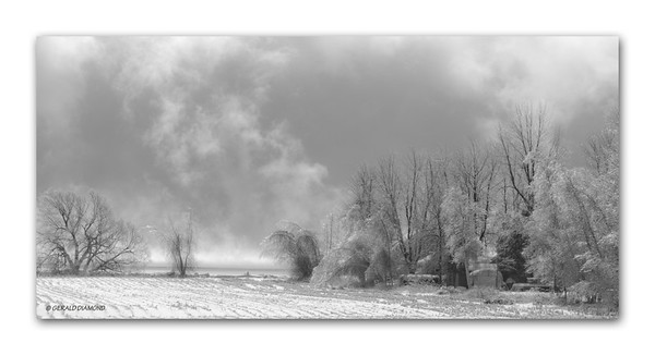 Winter - Ontario Farm #1  ©Gerald Diamond All Rights Reserved