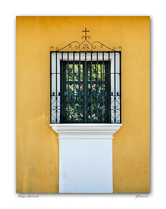Window onto inner courtyard, Antigua Guatemala
