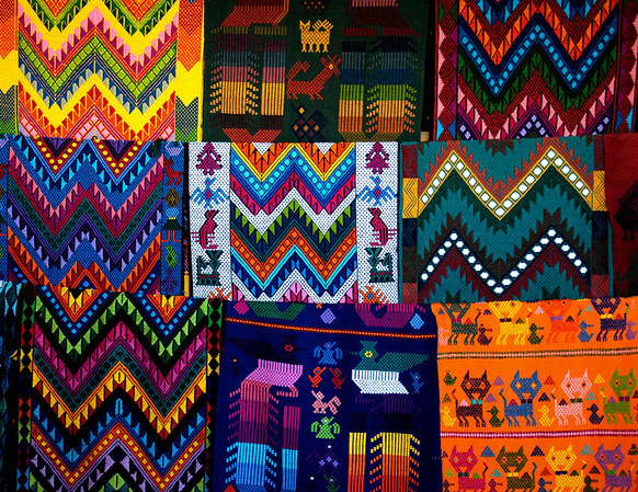 Guatemalan woven mats  ©Gerald Diamond All rights reserved