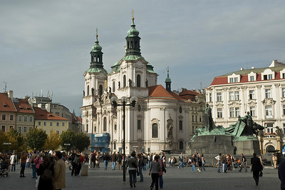 St. Nicholas Church, home to public concerts and recitals, was completed in 1735 in the Baroque style - Old Town Square, Prague, Czech Republic  ©Gerald Diamond All rights reserved