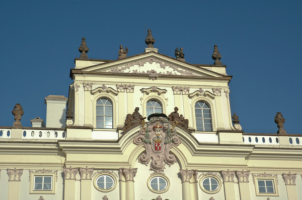 Sternberg Palace: One of the handsome, large government buildings making up the complex known as Prague Castle, one of the largest in the world.  ©Gerald Diamond All rights reserved