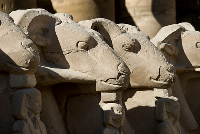 Today's Luxor was once called Thebes.  The entrance to its great Temple of Karnak  was guarded by a long row of sculptured rams.