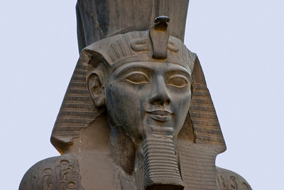 A close-up of Ramses II statue.  ©Gerald Diamond All rights reserved