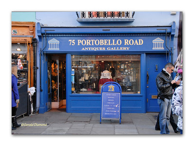 Portobello Road Market Storefront, Notting Hill, London 2012  ©Gerald Diamond All rights reserved