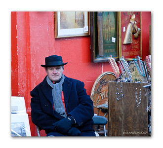 Portobello Market Vendor, Notting Hill, London 2012  ©Gerald Diamond All rights reserved