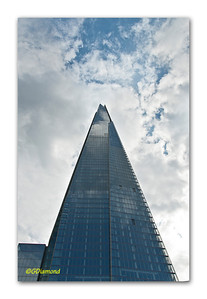 """The Shard"", London's newest and most dramatic thrust skyward on the South Bank, 2012  ©Gerald Diamond All rights reserved"