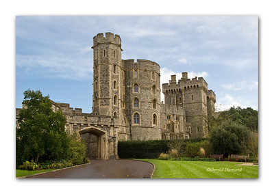 Windsor Castle Tower - Windsor, England  ©Gerald Diamond All rights reserved