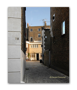 Lane Off Portobello Road, Notting Hill, London, 2012  ©Gerald Diamond All rights reserved