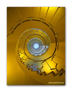 Spiral Staircase - 48 Gracechurch Street, London 2012  ©Gerald Diamond All rights reserved