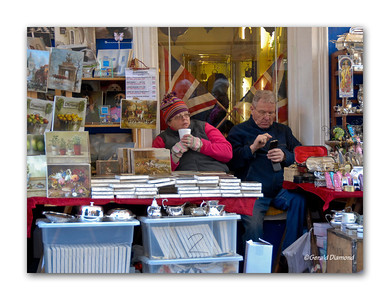 Portobello Road Market on a Chilly Saturday Morning, Notting Hill, London 2012  ©Gerald Diamond All rights reserved