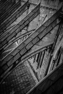 Buttresses Of Christ Church Cathedral, Dublin