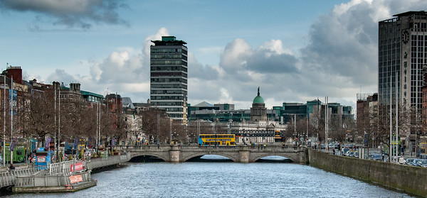 O'Connell Bridge Over The River Liffey, Dublin