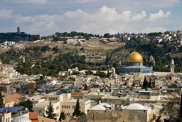 Mt. Of Olives As Seen From The Dome Of The Rock, Old City Of Jerusalem  ©Gerald Diamond All rights reserved