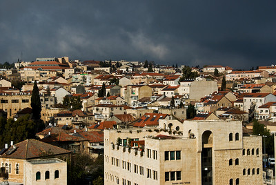 Clouds Gathering Over North Jerusalem, Israel  ©Gerald Diamond All rights reserved