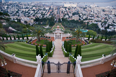 World Center of the Baha'i Faith on the slopes of Mt. Carmel in Haifa  ©Gerald Diamond All rights reserved
