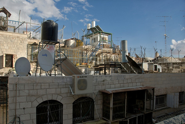 Protecting Your Rooftops - Old City Of Jerusalem  ©Gerald Diamond All rights reserved