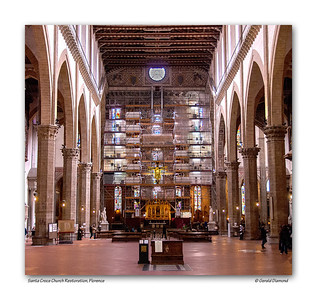 Santa Croce Church Restoration, Florence, Italy  ©Gerald Diamond All rights reserved
