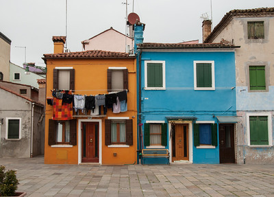 Wash Day #1, Burano, Venice, Italy 2013  ©Gerald Diamond All rights reserved